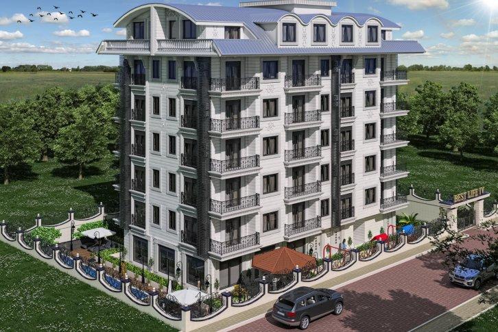 Квартира 1+1 в новом комплексе люкс в Махмутларе