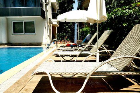 Продажа квартиры 1+1 с мебелью в 150 метрах от пляжа Оба